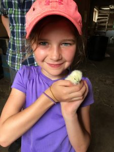 Girl with chick