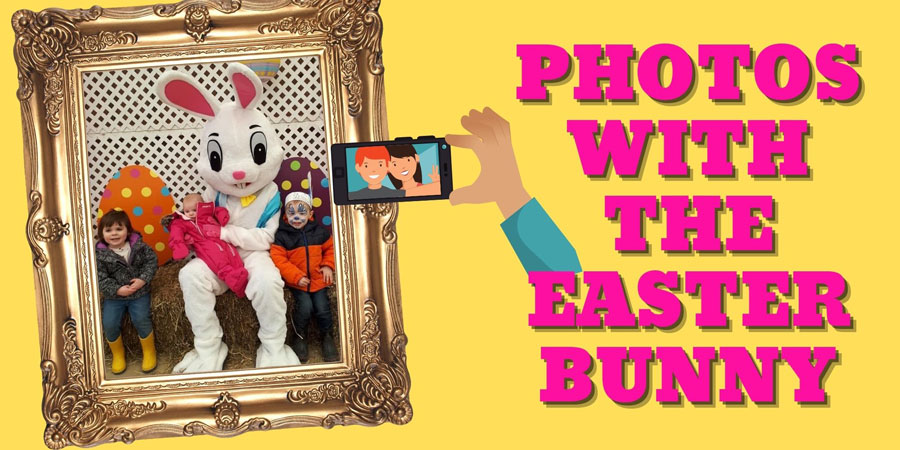 Photos with the Easter Bunny at Rounds Ranch