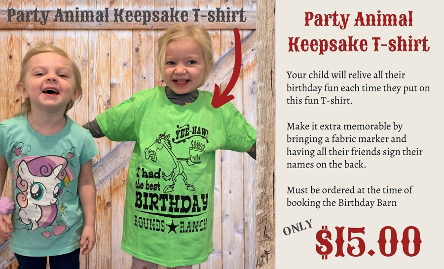 Party Animal T-shirt Rounds Ranch