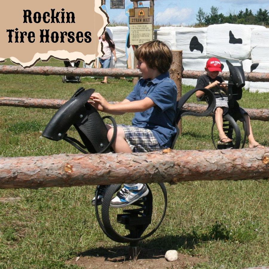 Rockin Tire Horses