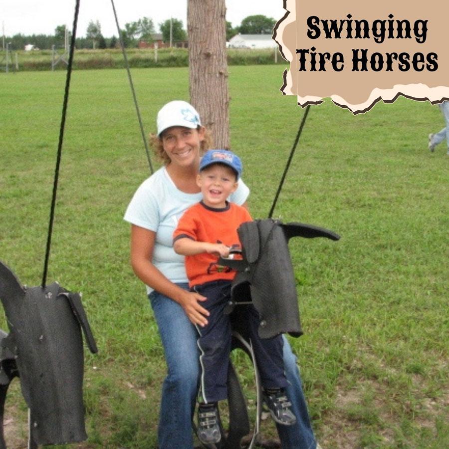 Swinging Tire Horses