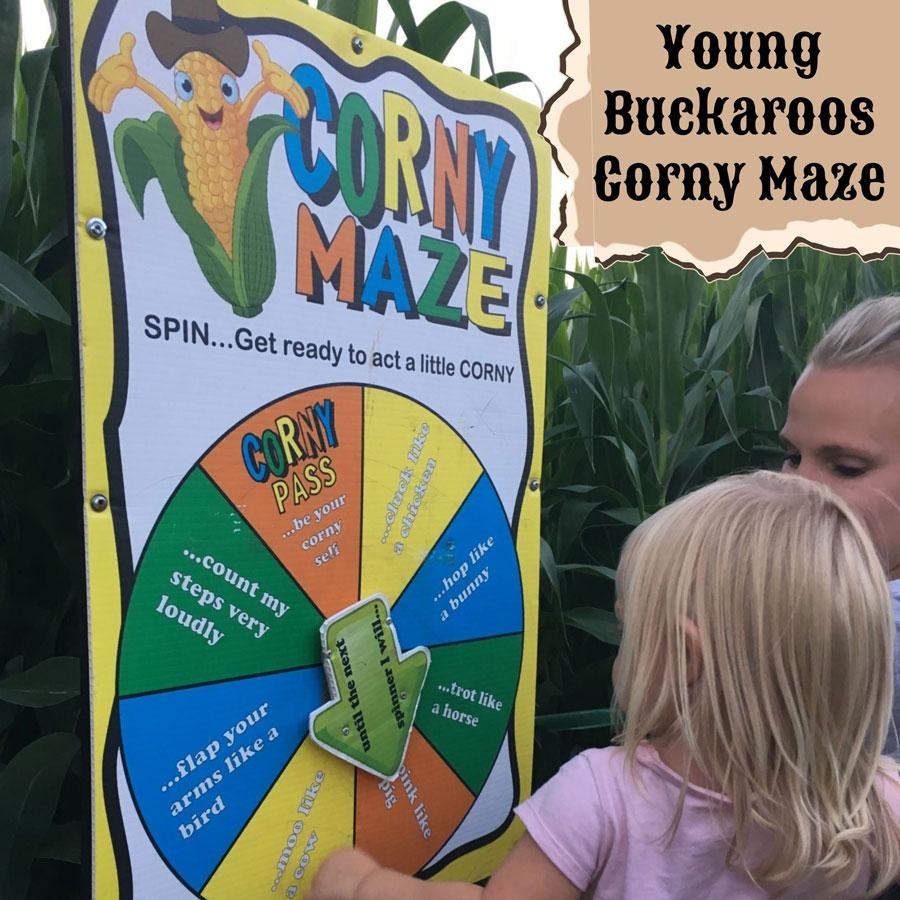 Young Buckaroos Corny Maze