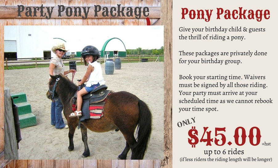 Party Pony Package at Rounds Ranch